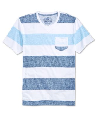 American Rag Mens Textured Stripe T-Sh..