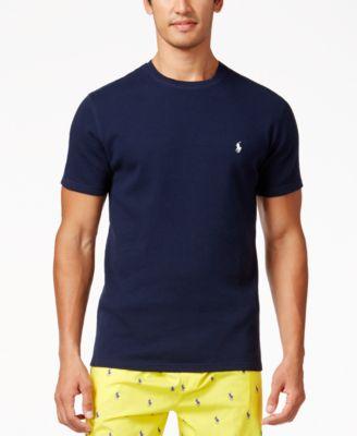 Polo Ralph Lauren Mens Solid Short Sleeve Crew-Neck Thermal Top