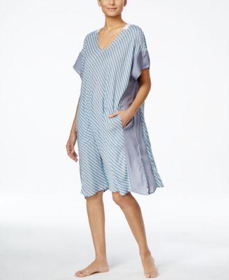 DKNY Printed Handkerchief-Hem Short Ca..