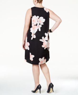 Calvin Klein Plus Size Floral-Print Sh..