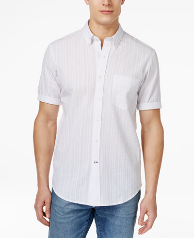 Club room big and tall men 39 s newton button down short for Tall button down shirts