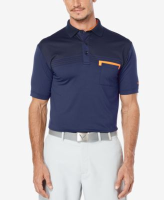 Callaway Mens Shadow Striped Golf Polo