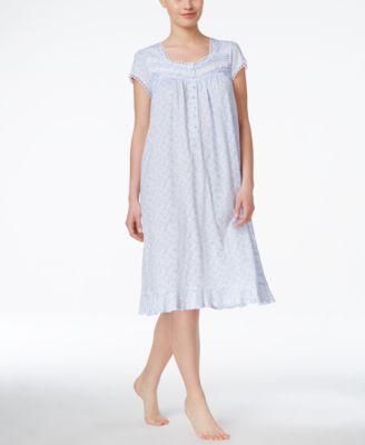 Eileen West Cap-Sleeve Nightgown