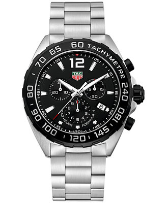 tag heuer s swiss chronograph formula 1 stainless