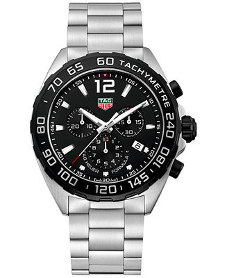 Tag Heuer Men S Swiss Chronograph Formula 1 Stainless