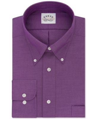 Eagle Mens Classic-Fit Non-Iron Bright Violet Dress Shirt