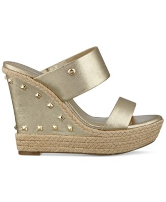 G by GUESS Decaf Espadrille Wedge Sand..