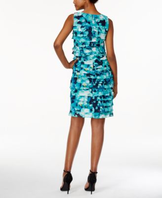 Jessica Howard Petite Printed Tiered S..