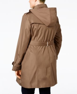 Calvin Klein Plus Size Hooded Single-B..