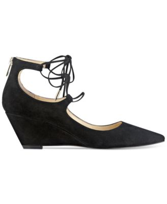 Ivanka Trump Winogrand Lace-Up Wedge Pumps
