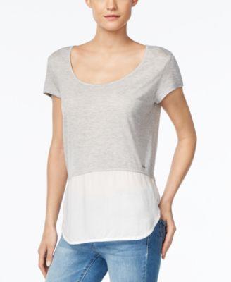 Calvin Klein Jeans Scoop-Neck Mixed-Me..