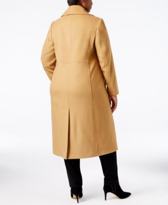 Anne Klein Plus Size Wool-Cashmere-Blend Maxi Walker Coat