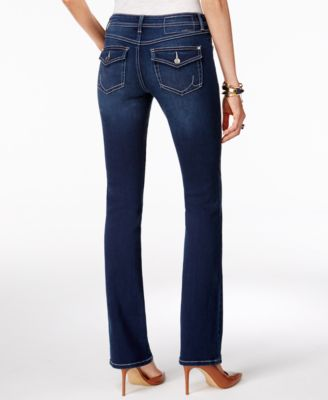 INC International Concepts Petite Curvy Spirit Wash Bootcut Jeans