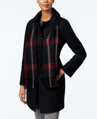 London Fog Walker Coat with Scarf