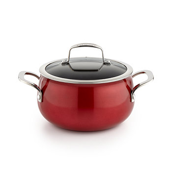 Belgique Red 3-Qt. Soup Pot with Lid