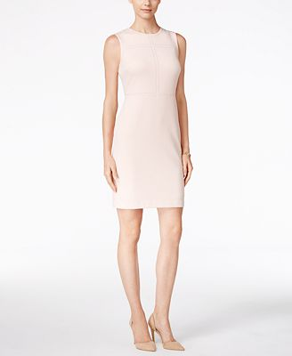 Ivanka Trump Sleeveless Studded Sheath Dress