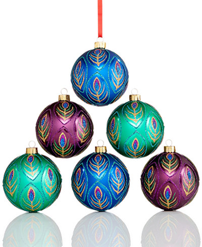 Pretty peacock ornaments