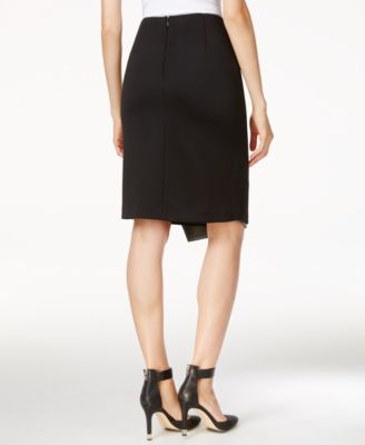 Calvin Klein Asymmetrical Faux-Leather..