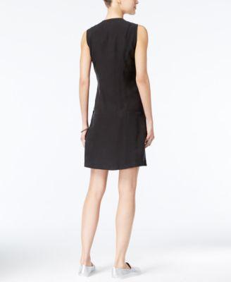 Armani Exchange A-Line Button-Detail Dress