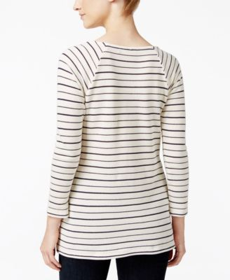 Charter Club Striped Textured Top