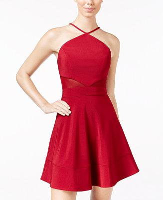 Emerald Sundae Juniors Illusion Fit Amp Flare Dress