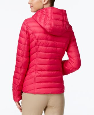 Nautica Reversible Hooded Packable Puffer Coat