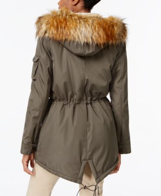 S13 Faux-Fur-Lined Hooded Down Parka