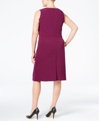 Kasper Plus Size Stretch Crepe Sheath ..