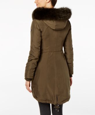 1 Madison Expedition Fox-Fur-Trim Hooded Parka Image