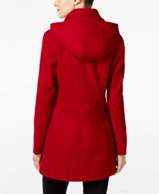 Nautica Wool-Blend Hooded Peacoat