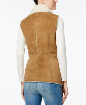 Wildflower Faux-Shearling Moto Vest