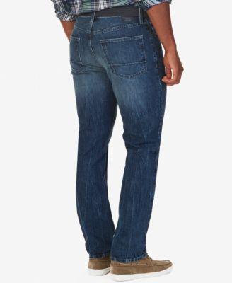 Nautica Mens Ocean Sail Straight-Leg Jeans