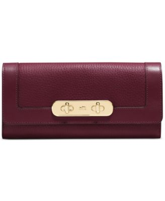 COACH Swagger Slim Envelope in Pebble Leather