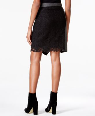 RACHEL Rachel Roy Lace Ruffled Skirt
