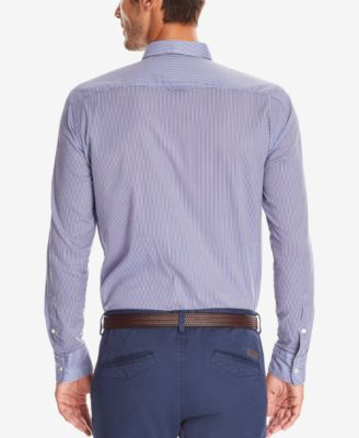 BOSS Mens Slim-Fit Striped Button-Down..