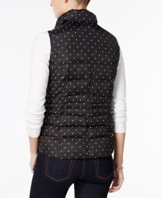 Charter Club Petite Dot-Print Quilted Vest