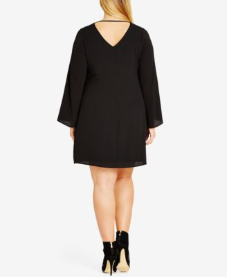 City Chic Trendy Plus Size Bell-Sleeve Tunic
