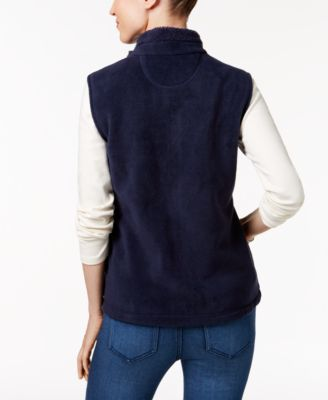 Karen Scott Petite Embroidered Vest