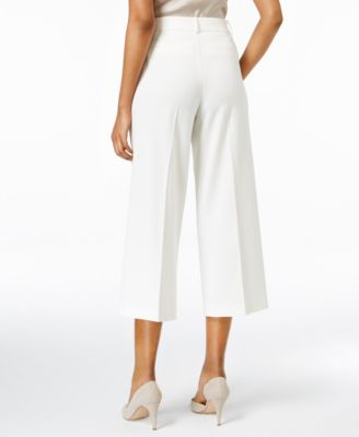 Charter Club Cropped Wide-Leg Pants