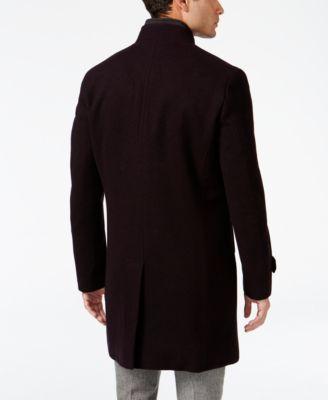 INC International Concepts Mens Layered-Collar Overcoat