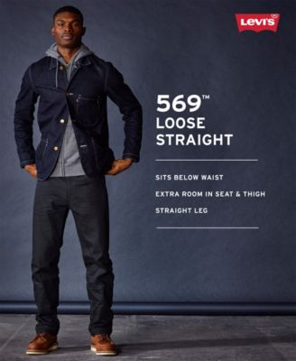 Levis Mens 569 Loose Straight Fit Jeans