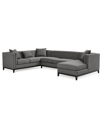 braylei 3 pc tufted sectional w chaise 2 toss pillows only at macy 39 s furniture macy 39 s. Black Bedroom Furniture Sets. Home Design Ideas