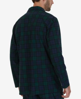 Nautica Mens Tartan Plaid Pajama Shirt