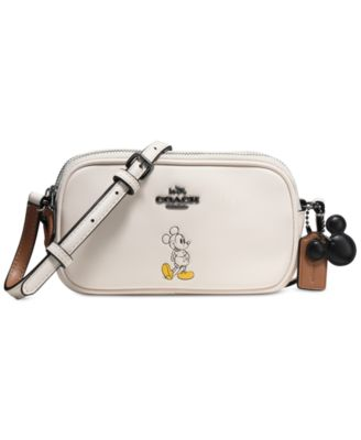 COACH Boxed Mickey Crossbody Pouch in Calf Leather