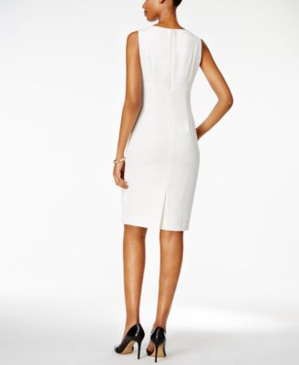 Kasper Crepe Sheath Dress