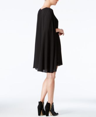 Bar III V-Neck Cape Dress