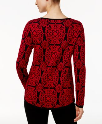 Charter Club Medallion-Print Top