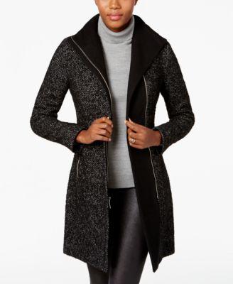 T Tahari Wool-Blend Belted Walker Coat
