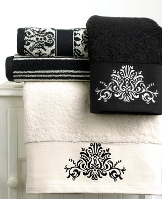 Closeout Bianca Quot Black And White Quot Towel Collection Bath
