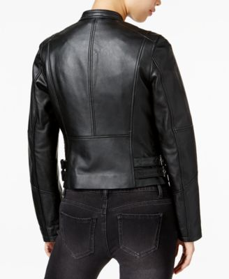 Bar III Leather Moto Jacket